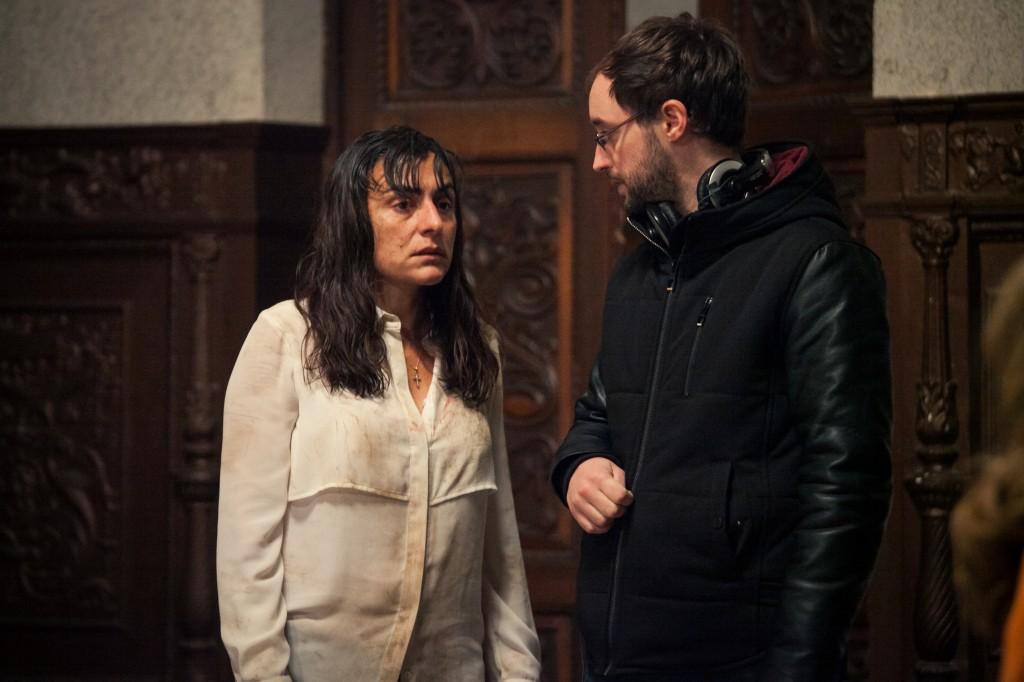 Candela Peña y el director Alex Sampayo