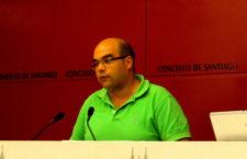 El portavoz del grupo municipal del Ayuntamiento de Santiago, Rubén Cela.