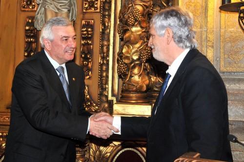 Toma de posesión como decano (17 de decembro de 2014) / O Reitor Juan Viaño e José Ramón Pousa
