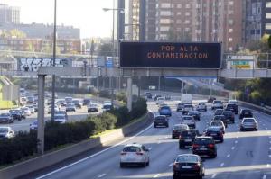 Contaminación ambiental en Madrid. Foto. el mundo.