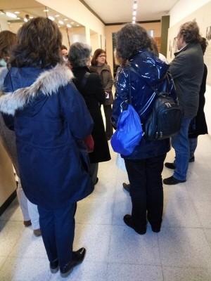 Os Guìas Interpretes oficiais de Turismo de Galicia, membros do APIT, de visita documental no Museo do Pobo Galego.