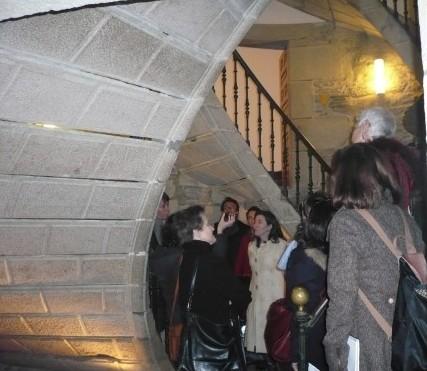 Visita dos guías oficiales de turismo galego