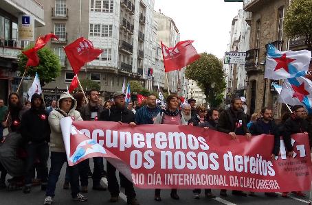 1º de maio en Santiago de Compostela