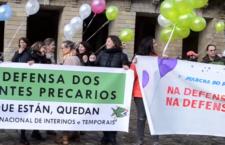 Personal precario da administración pública bótase a rúa para rexeitar a inestabilidade