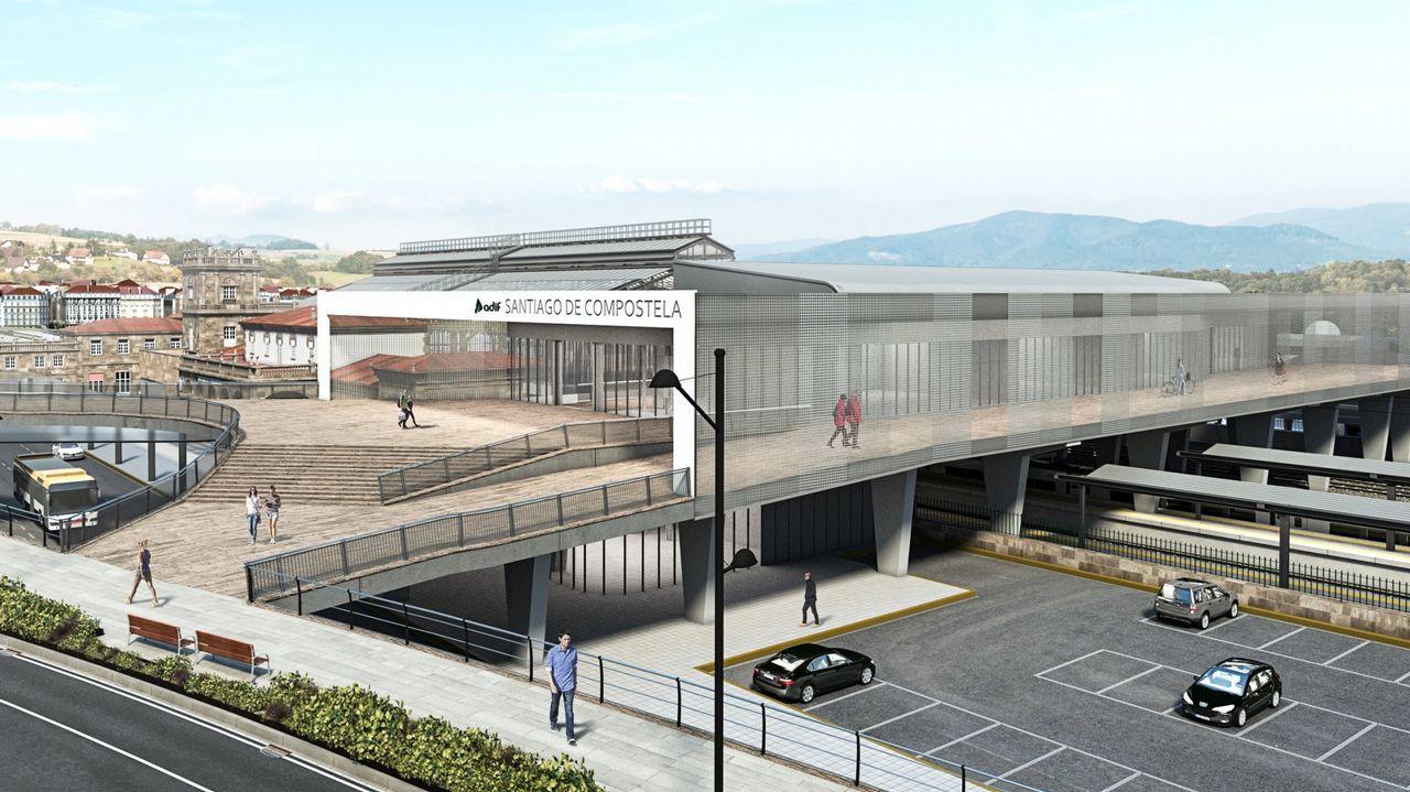 A estación intermodal de Santiago; un espazo cultural de homenaxe a Castelao